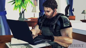 Chris Redfield on Notebook by JhonyHebert
