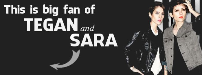 Cover photo for Facebook, Tegan and Sara by Pokrzywa007