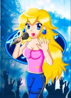 princess peach american idol by Markiehh