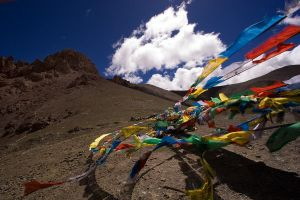 Prayer Flags at 17000 Feet by themobius