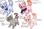 KITTY ADOPTABLE BATCH! OFFER TO ADOPT OPEN :-D by foxie-adopt
