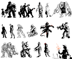various characters by 40-Kun