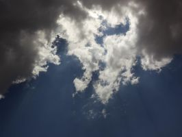 Sun Shining Thru Clouds -untouched- by IoannisCleary