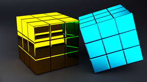 Cubes in Chrome-Yellow (grey) by Dario999