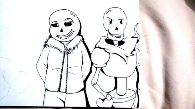 Sans and Papyrus by ilovewheatley