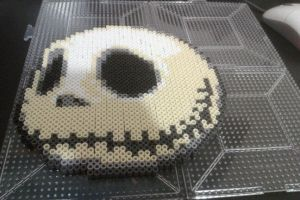 Perler Jack Skellington by cracklebyte