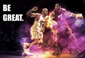 Be Great. Lebron vs Kobe by AminKazama