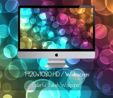 Colorful Bokeh Wallpaper - 1920x1080 (Widescreen) by CupcakeyKitten