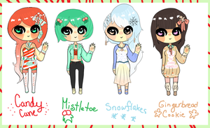 The First Four Days of Christmas Adopts CLOSED by coolkatadopts