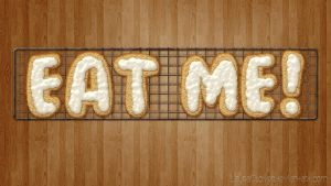 Wallpaper Eat Me by LauraClover