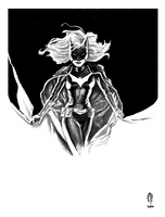 Ink wash Batwoman by PryorPencils