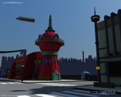 Planet Express Building 2 by MrRonsfield