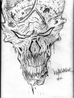 skull sketch by tvlookplay