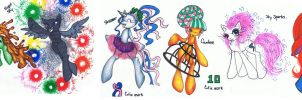 New Years Pony Batch [CLOSED] by Mashi-Adopts