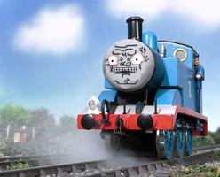 Thomas the Murder Engine by blender-monky