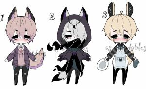 kemonomimi boys adoptables CLOSED by AS-Adoptables