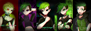 The many faces of Antisepticeye (+ Speedpaint) by LightAppend