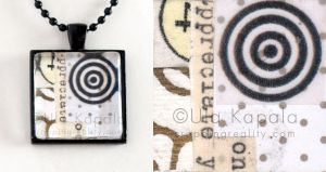 Wearable art - abstract collage pendant 2 by ukapala