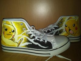 Pickachu shoes by Yitty