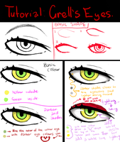 Tutorial: how to draw Grell's eyes by littlemissdead