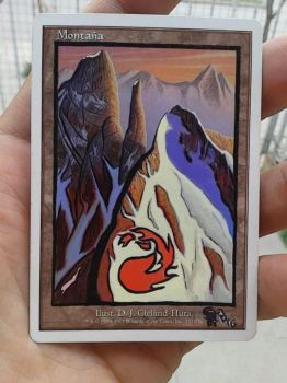 MtG 7th Edition Mountain Extended-full Art by BlackBullo