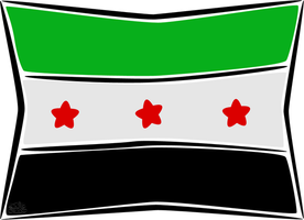 Syria revolution flag by iAiisha