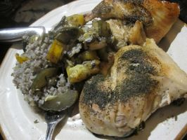 Lemon-Dill Chicken and Rice 1 by Windthin