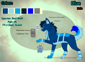 Commission - Blue Reference Sheet .:SPEEDPAINT:. by Krissi2197