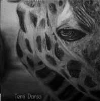 Giraffe Drawing by 16 year old by MsTemmii