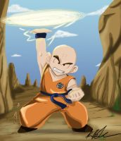 Krillin with background by Devain