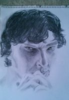 Benedict Cumberbatch as Sherlock by Dreadnoiz