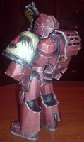WH Space Marine papercraft 2 by MooNFishZ