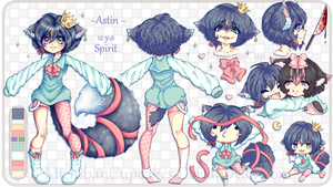 Astin Character Ref Sheet by MichibanCupcakes