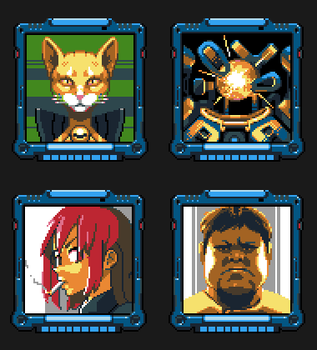 Space Criminal 64x64 portraits by iSohei