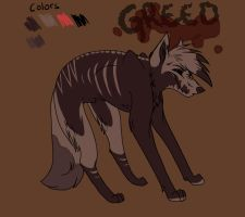Greed ref. sheet by Wiwolf