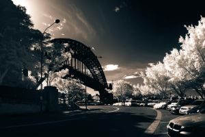 Sydney Harbour Bridge IR by leafinsectman