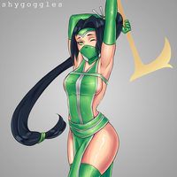 League of Pin Ups - Akali by shyGoggles