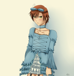 [APH] Nice dress by CherriBurossamu