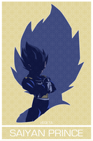 Vegeta Poster [w/o quotes] by unc1233