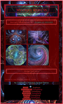 Mystique: Red Journal CSS by Dragon-of-Midnight