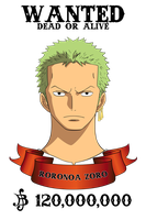 Zoro Wanted 1 by xxRIDDICKxx