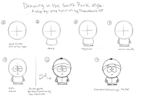 South Park Style: Tutorial by ThreadbareSP