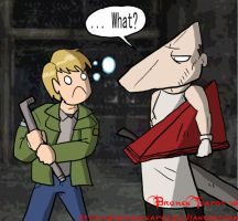 Pyramid Head's face revealed by BrokenTeapot