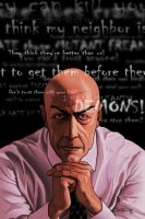 Professor X Poster by RC-draws
