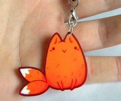 kawaii fox charm by michellescribbles