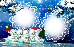 Christmas Frame PNG by venicet