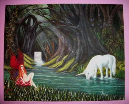 One of my paintings ... Magic Forest :) by fransiguel