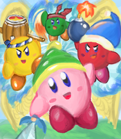 Kirby and the Amazing Mirror Teamwork! by manfartwish