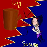 Sasuke vs the log by SilentTalent