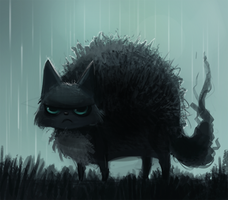 Day 297. Ew its raining outside and I need to go by Cryptid-Creations